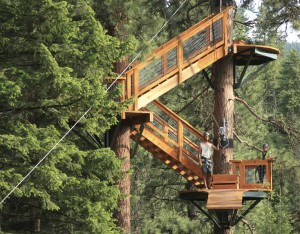 zip line Coeur d'Alene stair case.